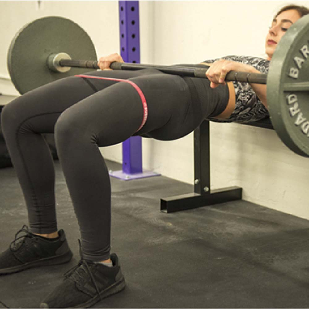Barbell Hip Thrust Barbell Glute Bridge With Booty Bands