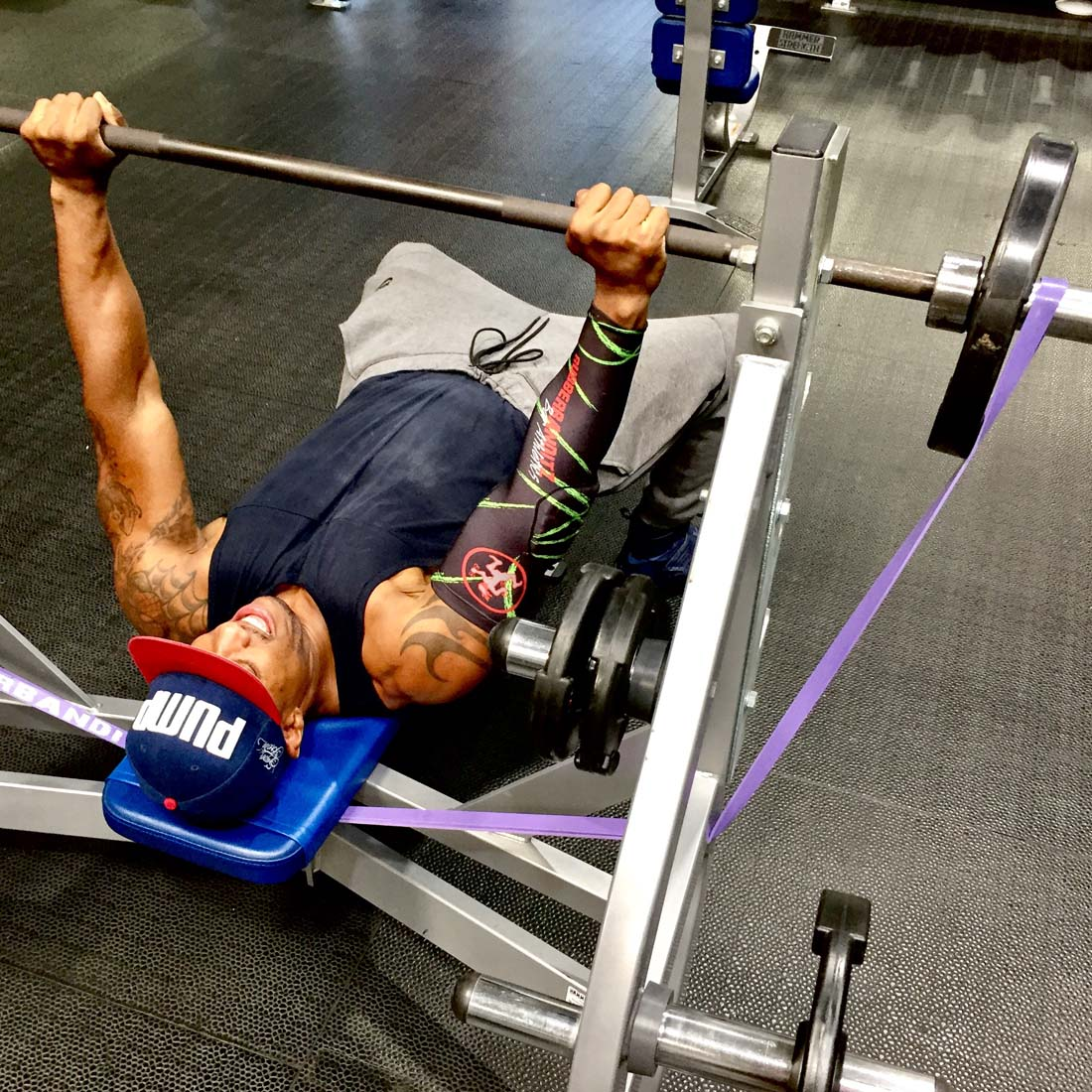 Bench Press With Resistance Bands And Weights