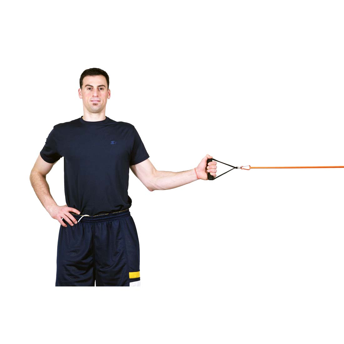 Resistance Bands Upright Row: Shrugs