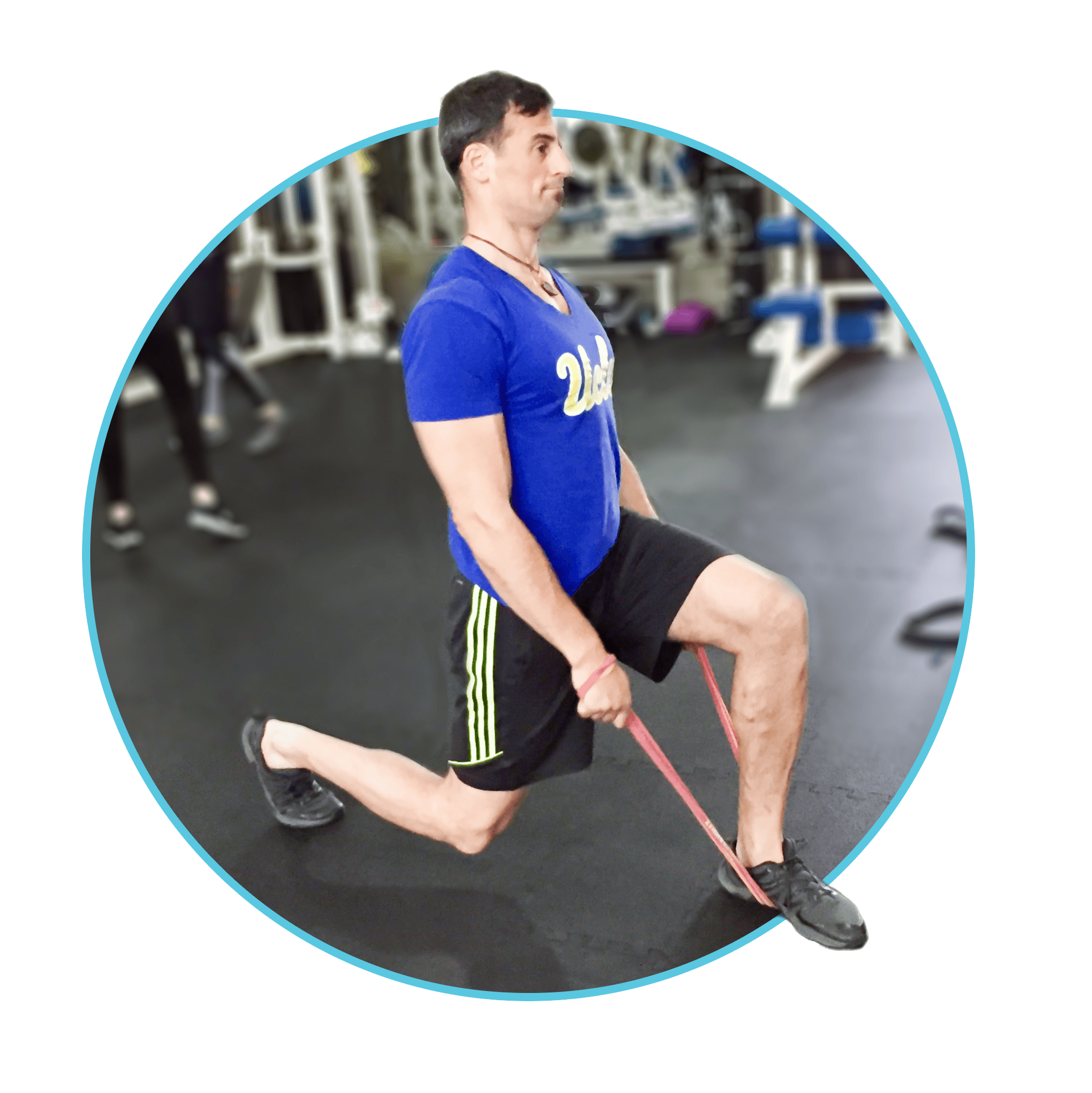 Lunges with Resistance Bands: