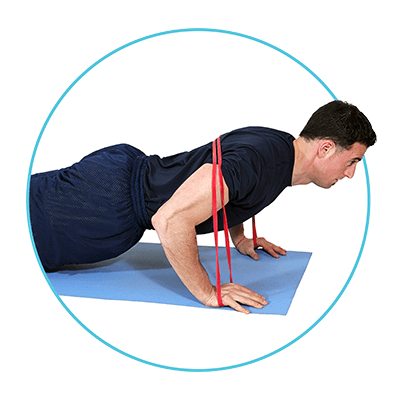Resisted Push Ups with Exercise Bands