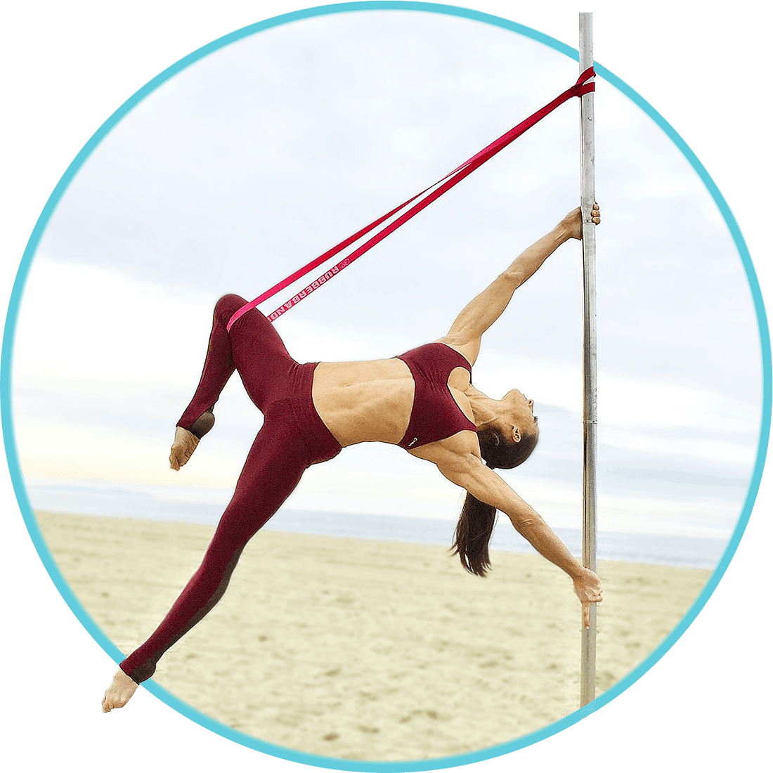 Handspring on the Pole with Resistance Bands