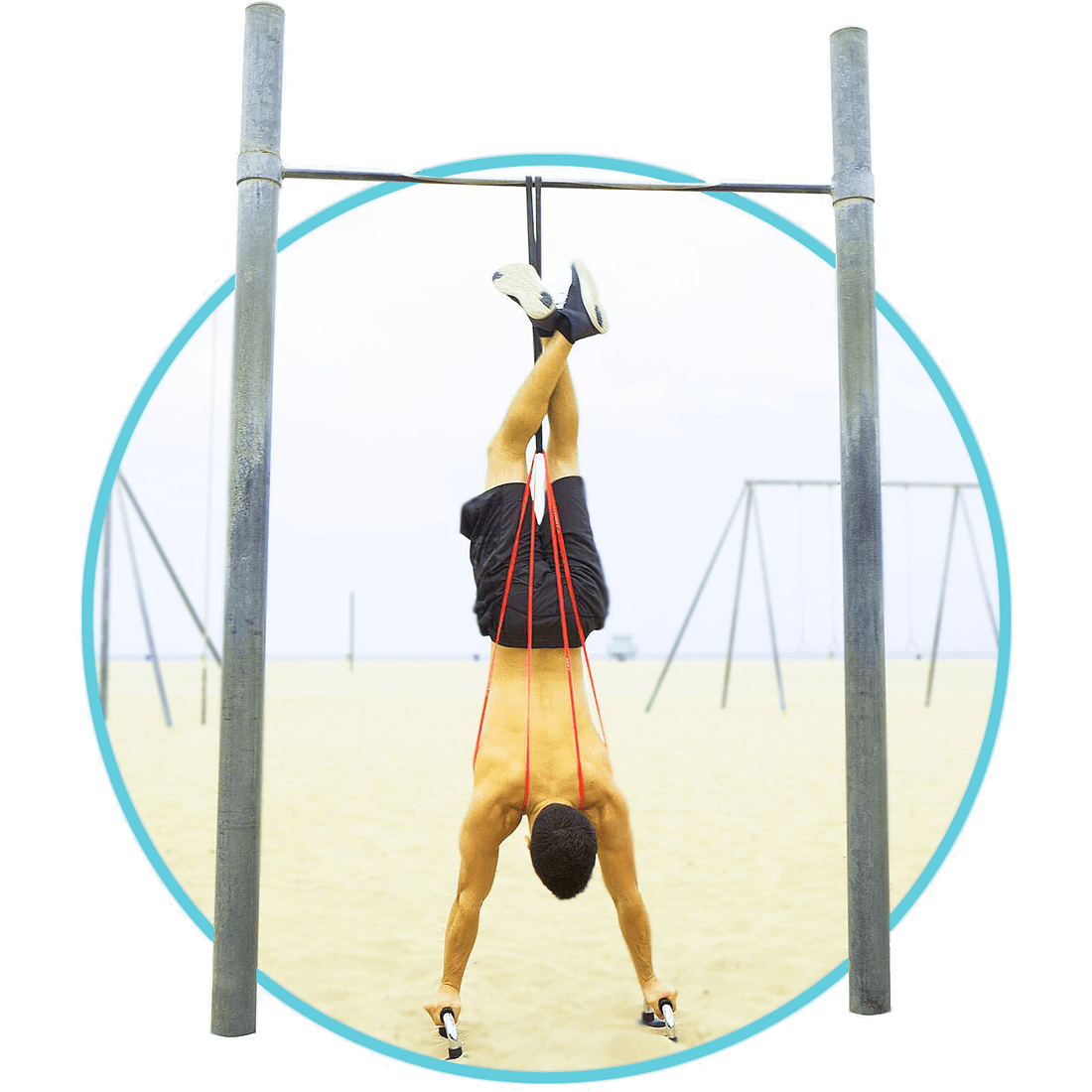 Handstand and Handstand Pushup with Resistance Bands
