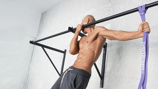 Resistance Red Pull Up Assist Band For Body Stretching