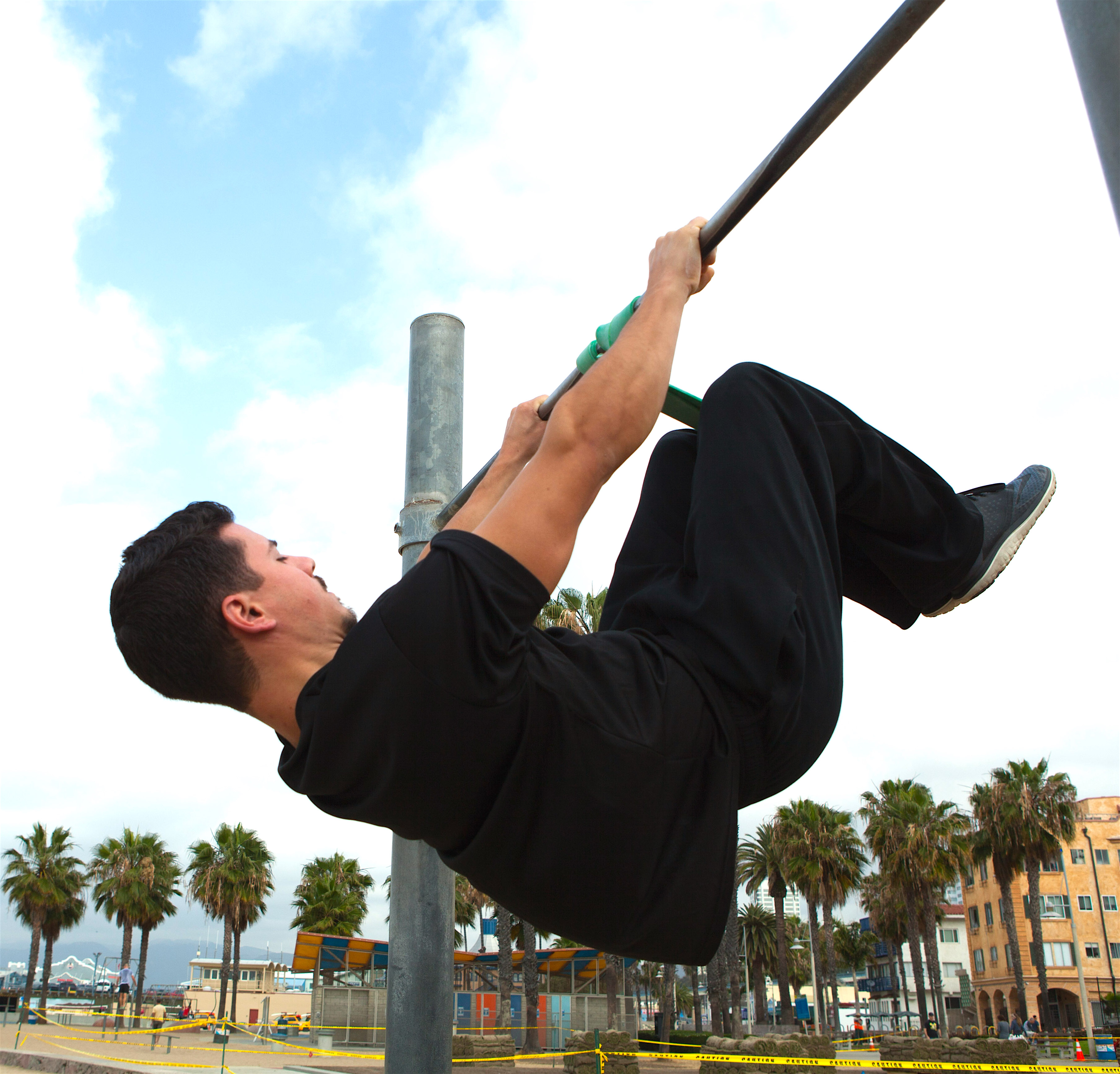 Tuck Front Lever Progression with Resistance Bands