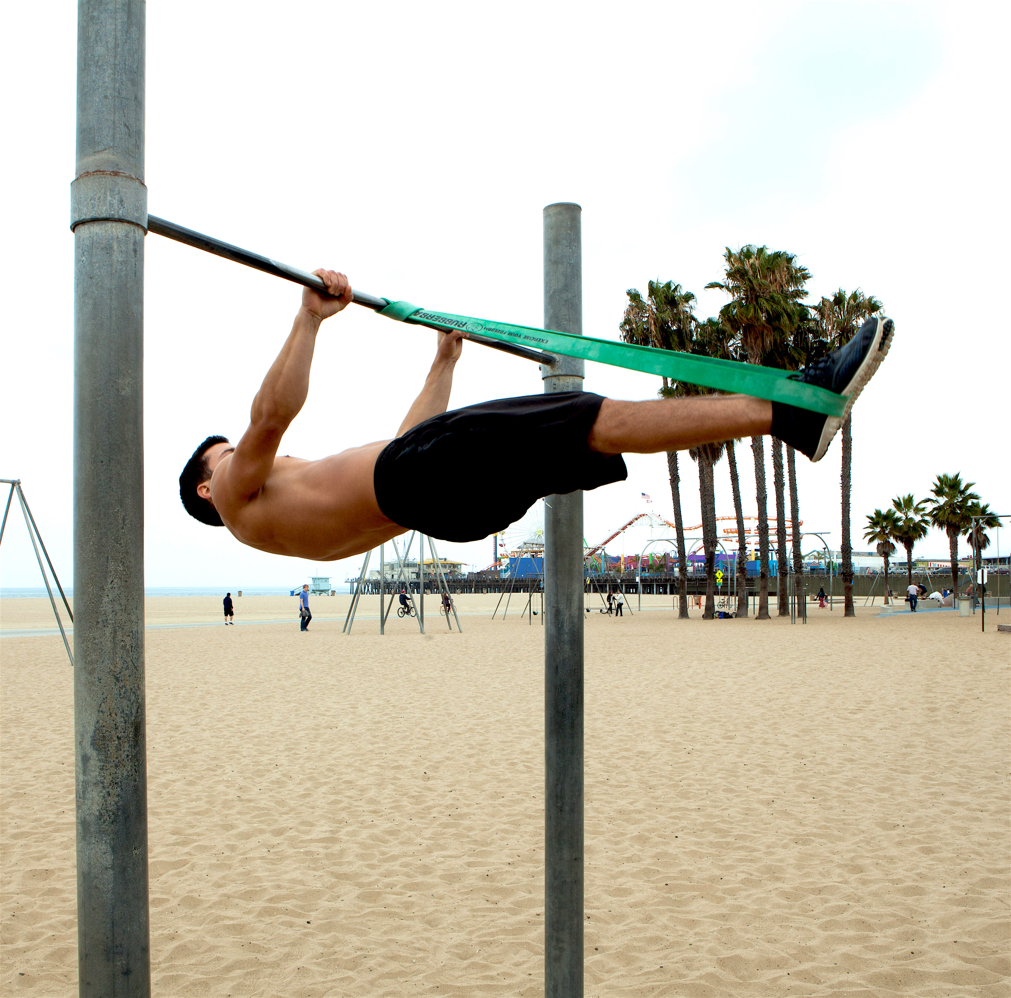 Full Front Lever Progression with RubberBanditz Resistance Bands