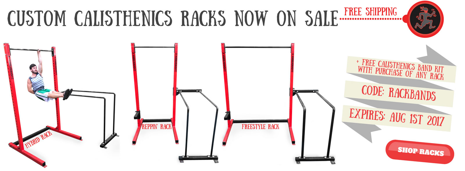 Calisthenics Racks - free calisthenics band kit with any purchase, code rackbands