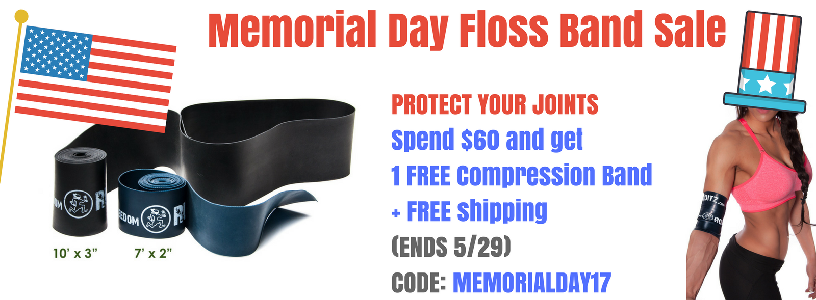 Spend $60 and get a free floss band!
