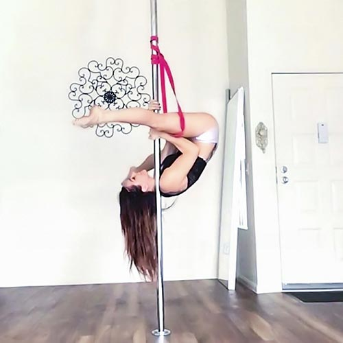 pole dancing workout with resistance bands